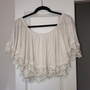 Lovers and friends off the shoulder crop top